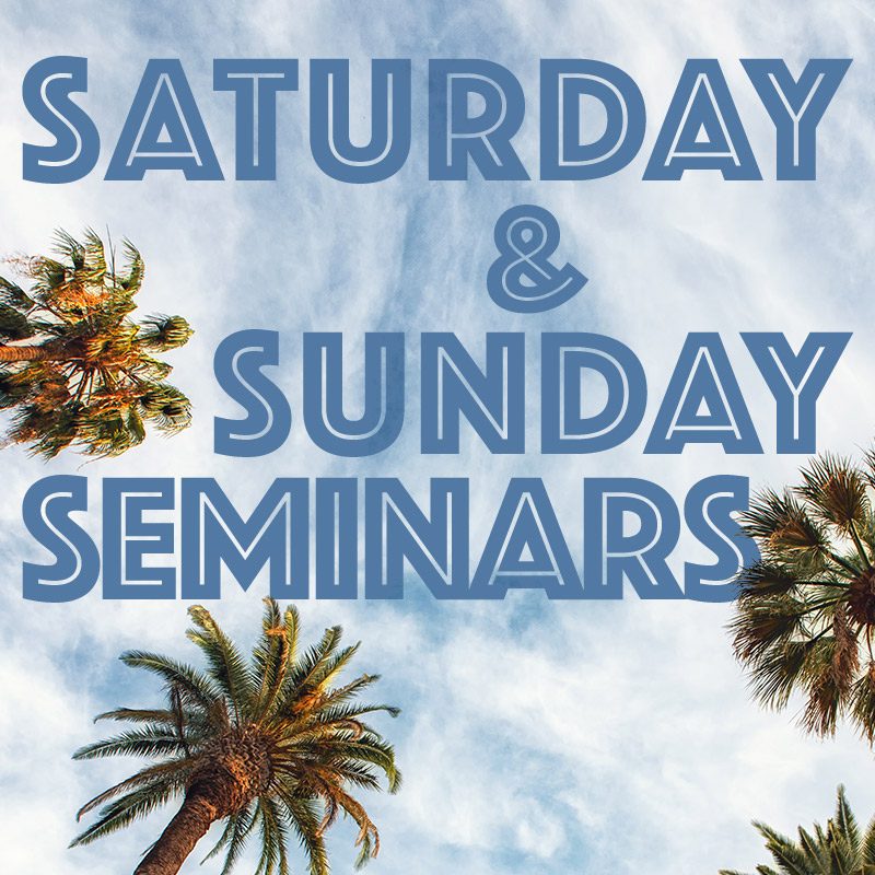 Saturday & Sunday Seminars Only Pass